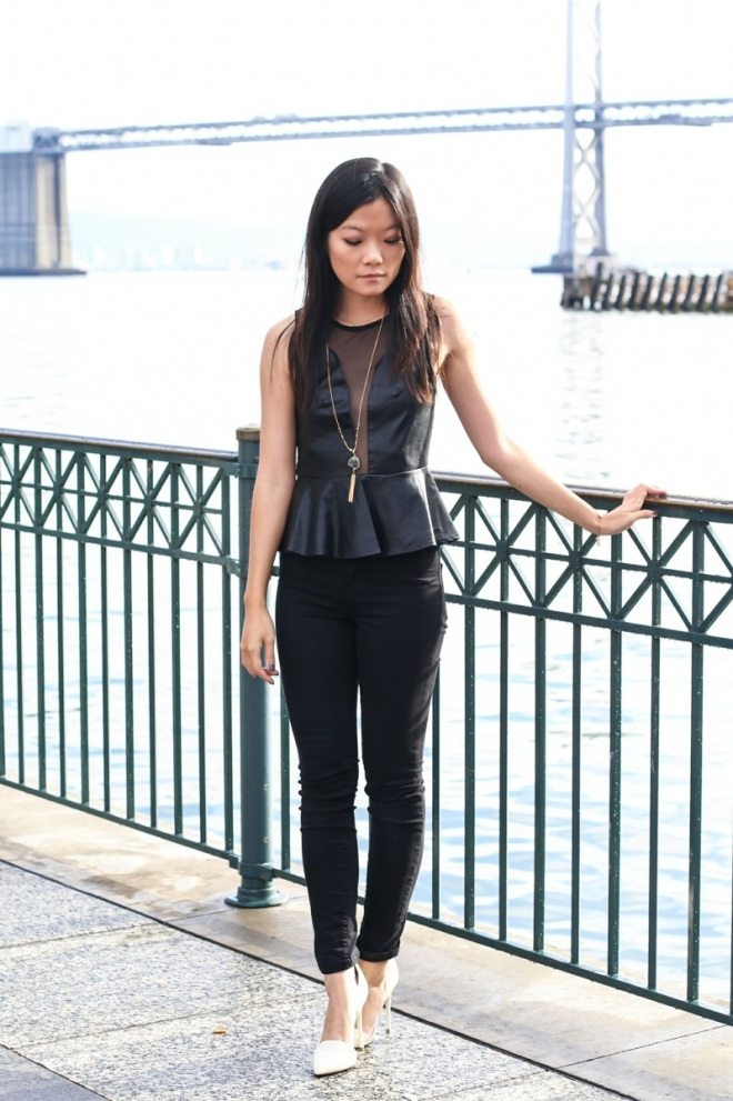 All black errthang...this peplum top from For Love and Lemons is one of my favorites.