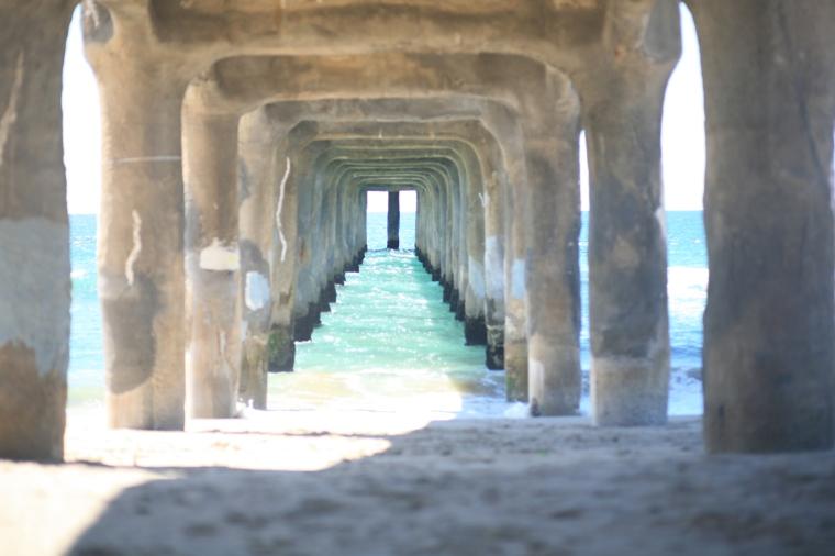 Under the pier. No filter