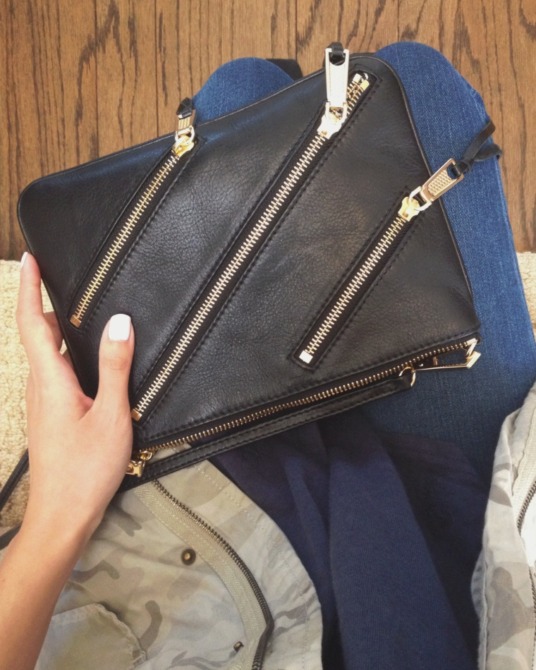 Hands free with my classic Rebecca Minkoff Crossbody Bag.
