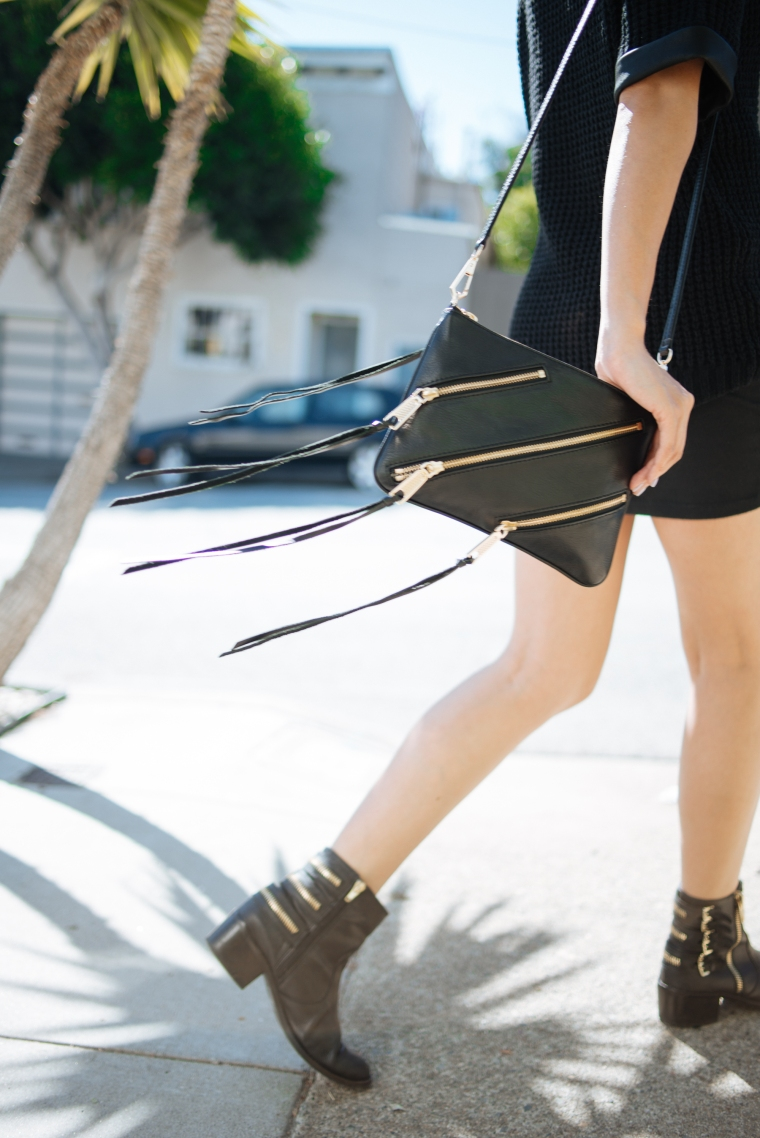 Fringe Effect. I love toting this cross body Rebecca Minkoff bag around. SF loves her, she has a new store in Pacific Heights on Fillmore St!