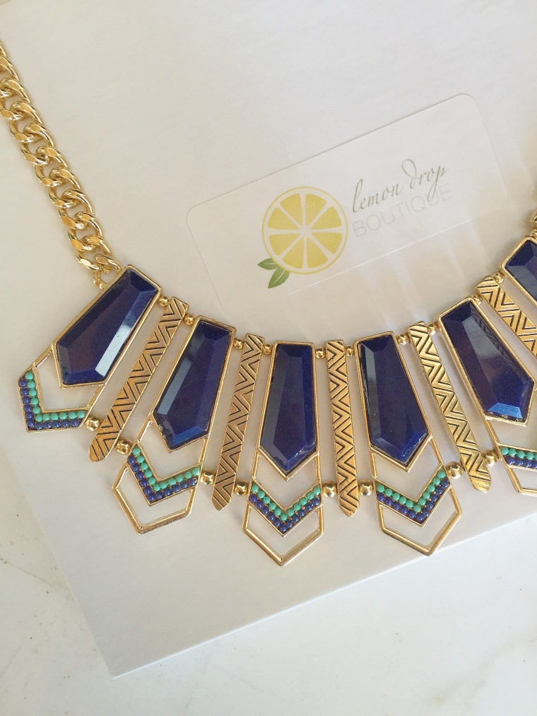 The Retro Necklace from Lemon Drop Boutique.