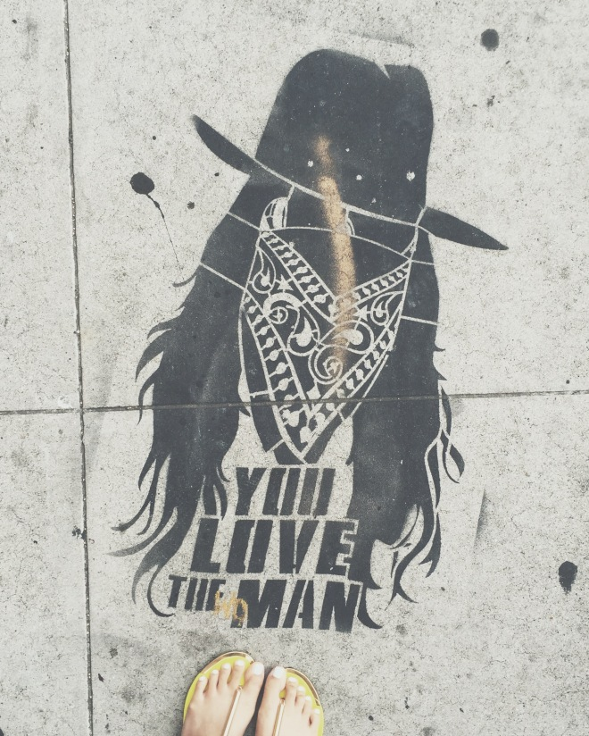 You love the man. Yes. Yes I do. Graffiti Art on Sunset.