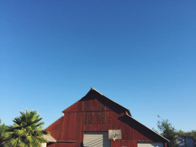 Great Uncle Jack's Barn. Many a basketball game played here.