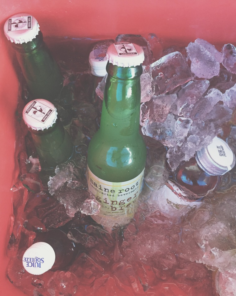 We like our organic ginger beer. yes.
