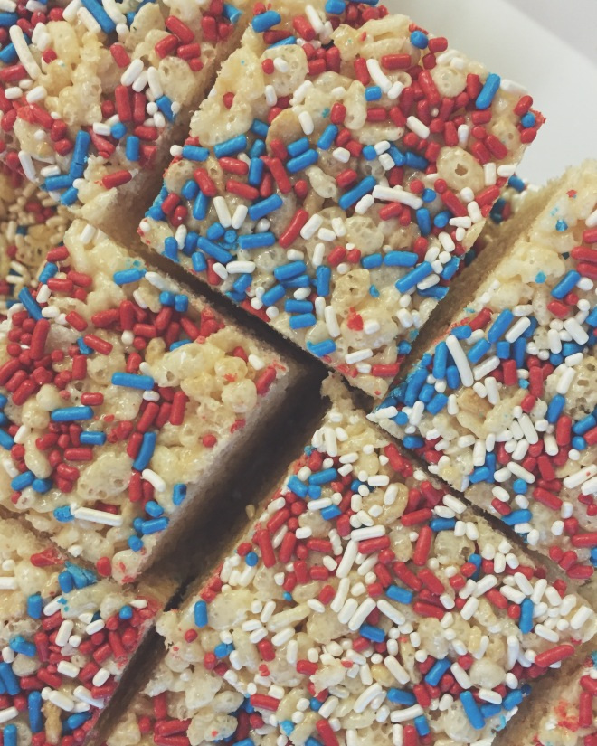Cousin Cyndy's rice crispy treats