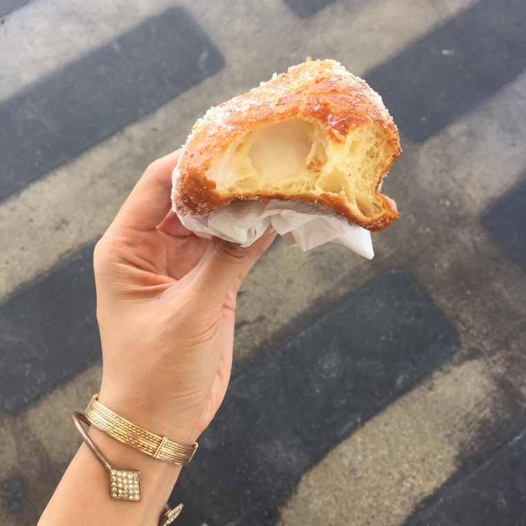 What's a malasada? It's basically a Portuguese custard filled donut.