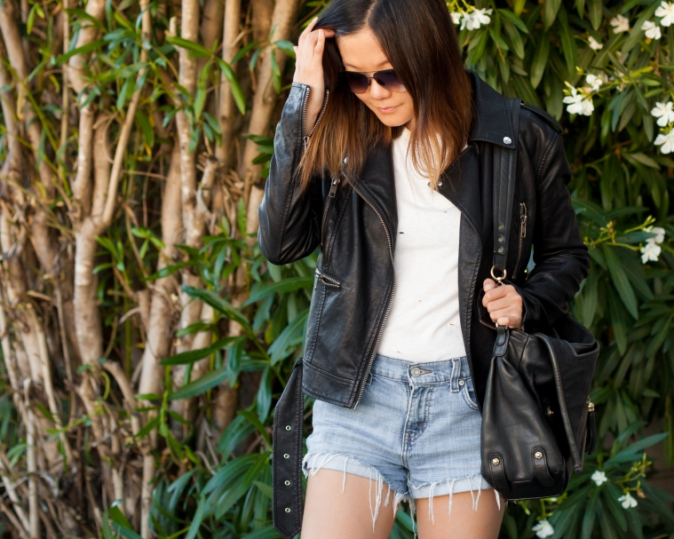 cutoffs jacket blogger lulus
