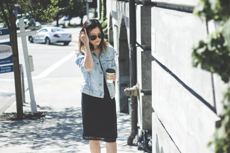 slipdress jeanjacket styleblogger
