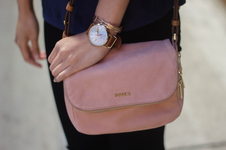 blush bag fossil