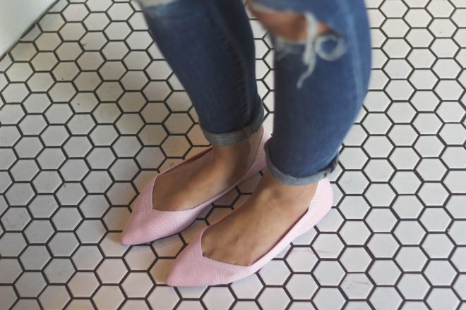 pink-shoes-rothys-flats