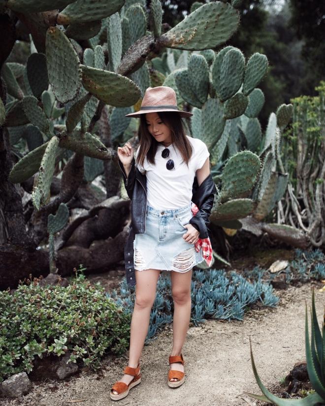 girl in a cactus garden