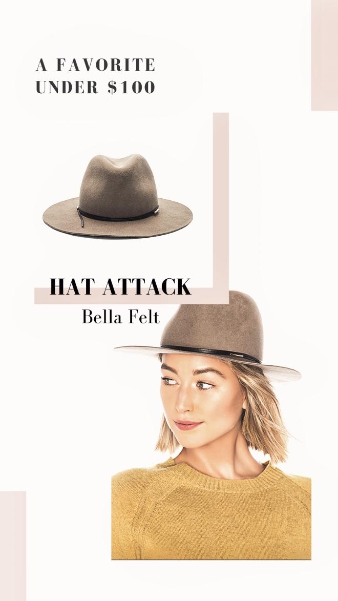Felt hat under $100