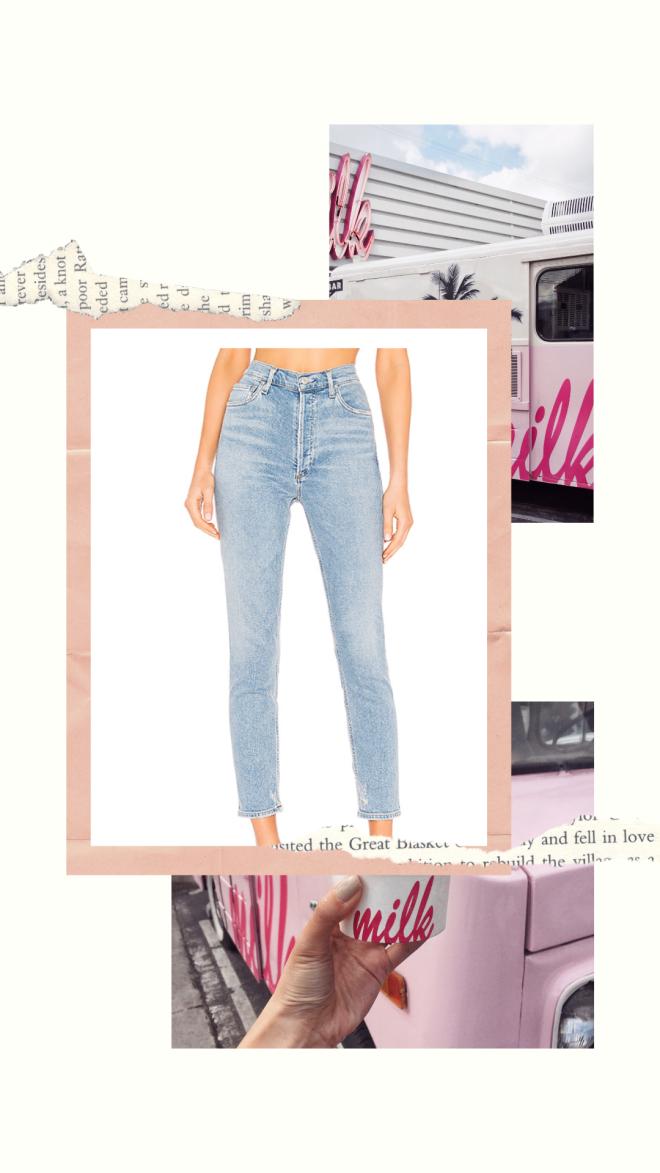 High Waisted Agolde Denim Jeans