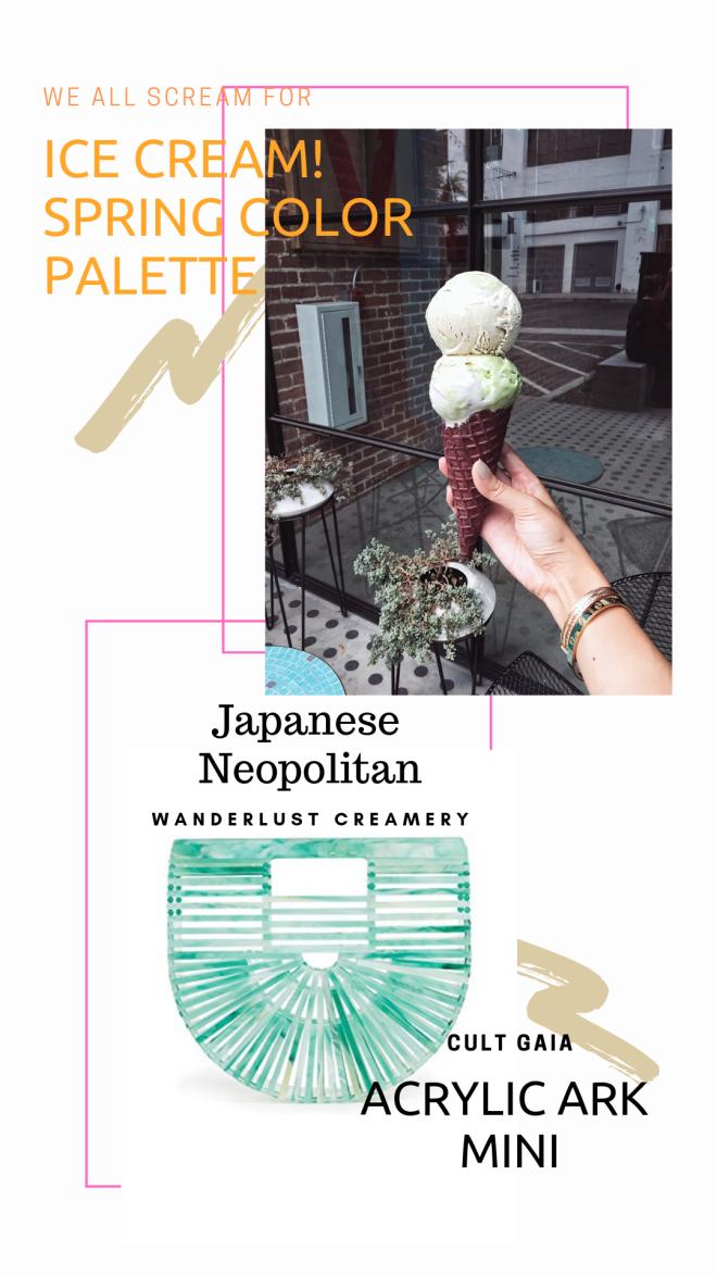 Aqua Acrylic Cult Gaia bag | Wanderlust Japanese Neopolitan Ice Cream